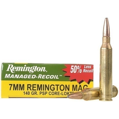 Remington Managed Recoil 7mm Remington 140 Grain Core-Lokt PSP