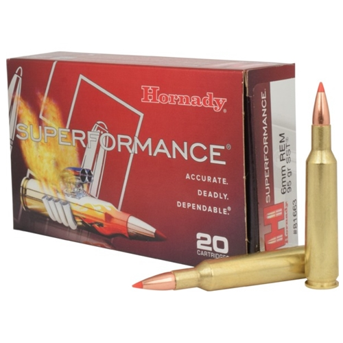 Hornady Superformance 6mm Remington Ammo 95 Gr SST