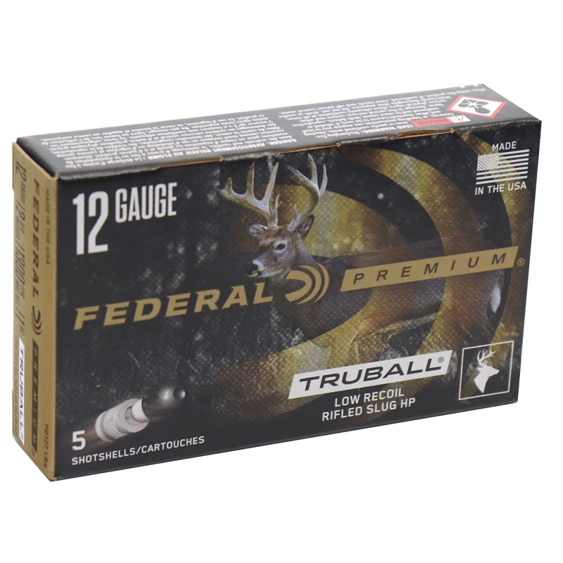 "Federal Premium Vital-Shok Truball Ammunition 12 Gauge 2 3/4"" 1oz. Lead Rifle Slug Box of 25"