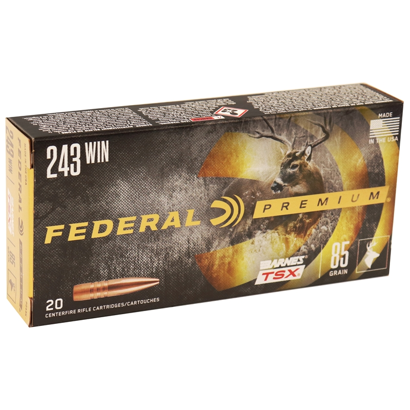 Federal Premium Vital-Shok 243 Winchester 85 Grain Barnes