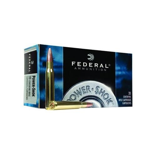 Federal Power-Shok 30-06 Springfield Ammo 125 Gr Speer Hot-Cor SP
