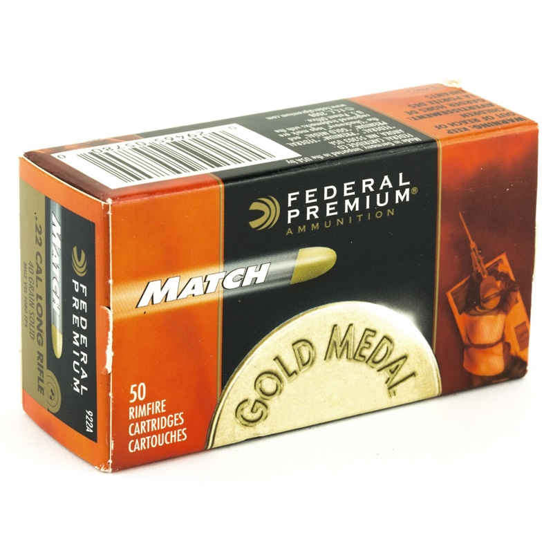 Federal Gold Medal Match 22 Long Rifle Ammo 40 Grain LRN
