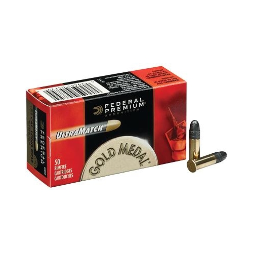 Federal Gold Medal Ultra Match 22 Long Rifle Ammo 40 Grain LRN