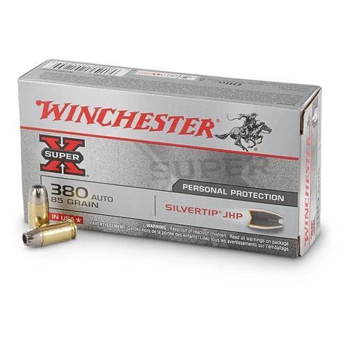 Winchester Super-X 380 ACP AUTO 85 Grain JHP