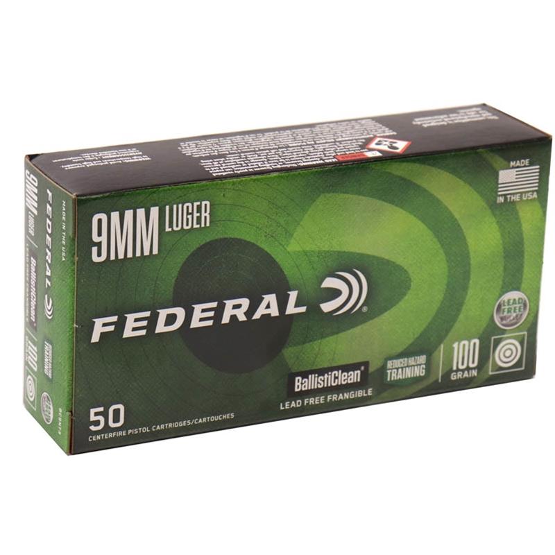 Federal Law Enforcement BallistiClean 9mm Luger Ammo 100 Grain LF