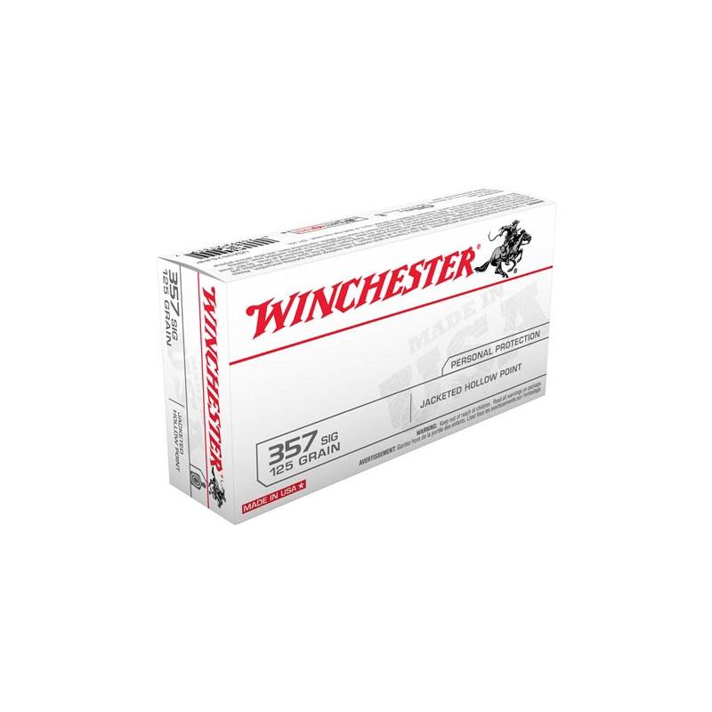 Winchester USA 357 SIG Ammo 125 Grain JHP