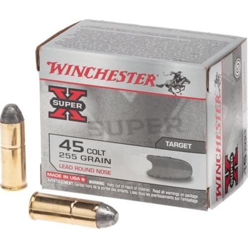 Winchester Super-X 45 Long Colt 255 Grain Lead Round Nose
