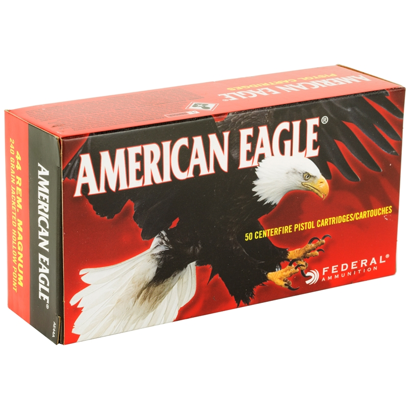 Federal American Eagle 44 Remington Magnum Ammo 240 Grain JSP