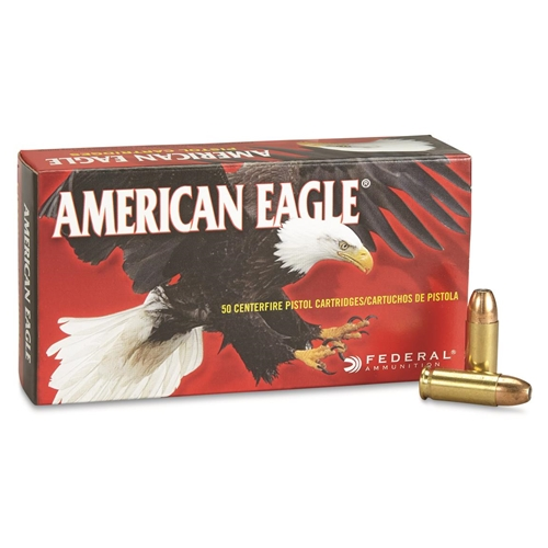 Federal American Eagle 38 Super Ammo +P 115 Grain JHP