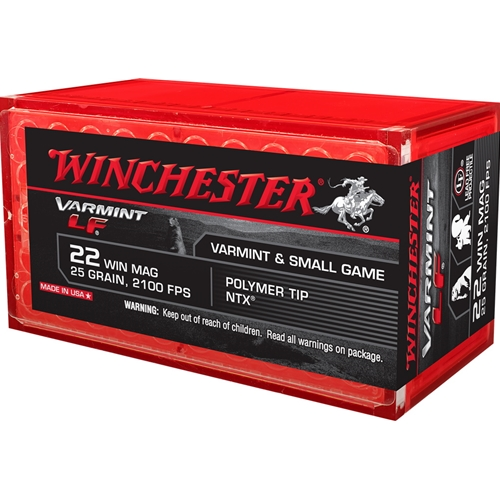 Winchester Super-X 22 WMR 25 Grain Jacketed Hollow Point Lead Free