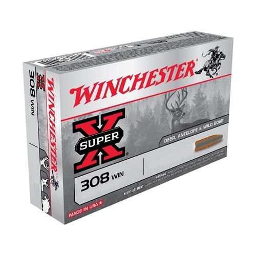 Winchester Super-X 308 Winchester Ammo 180 Grain Silvertip