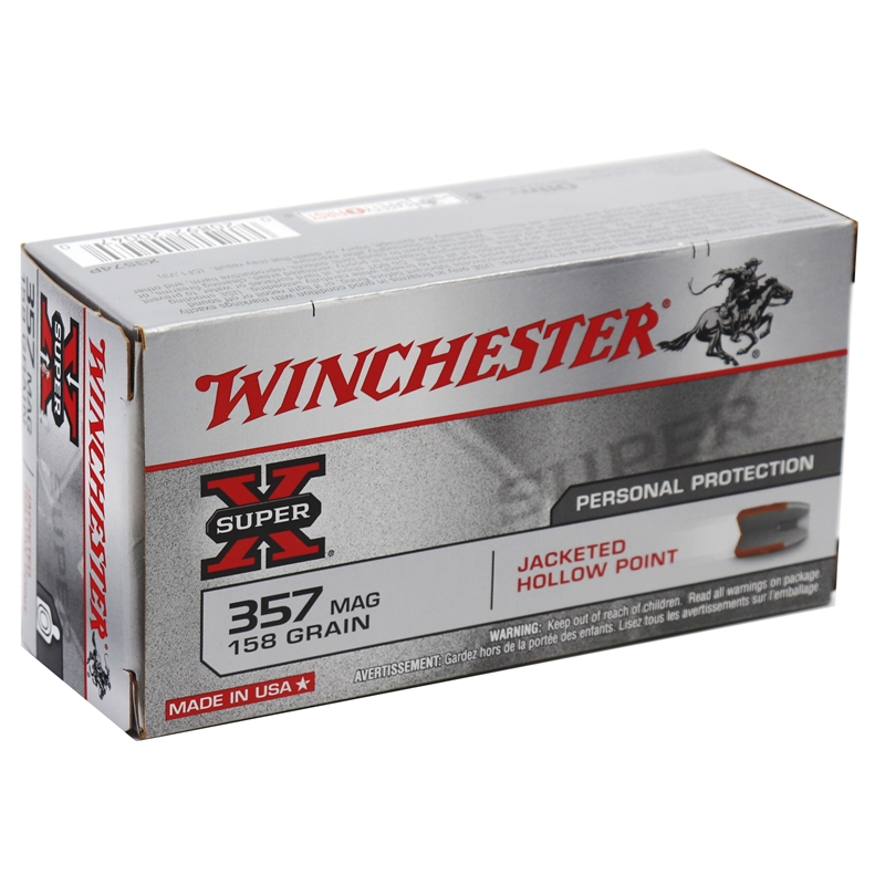 Winchester Super-X 357 Magnum 158 Grain Jacketed Hollow Point