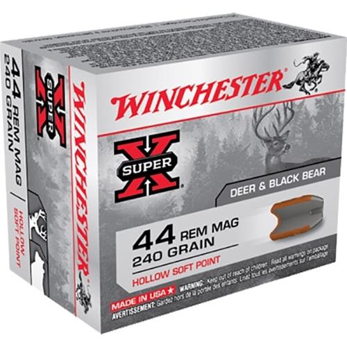Winchester Super-X 44 Remington Magnum 240 Grain HSP