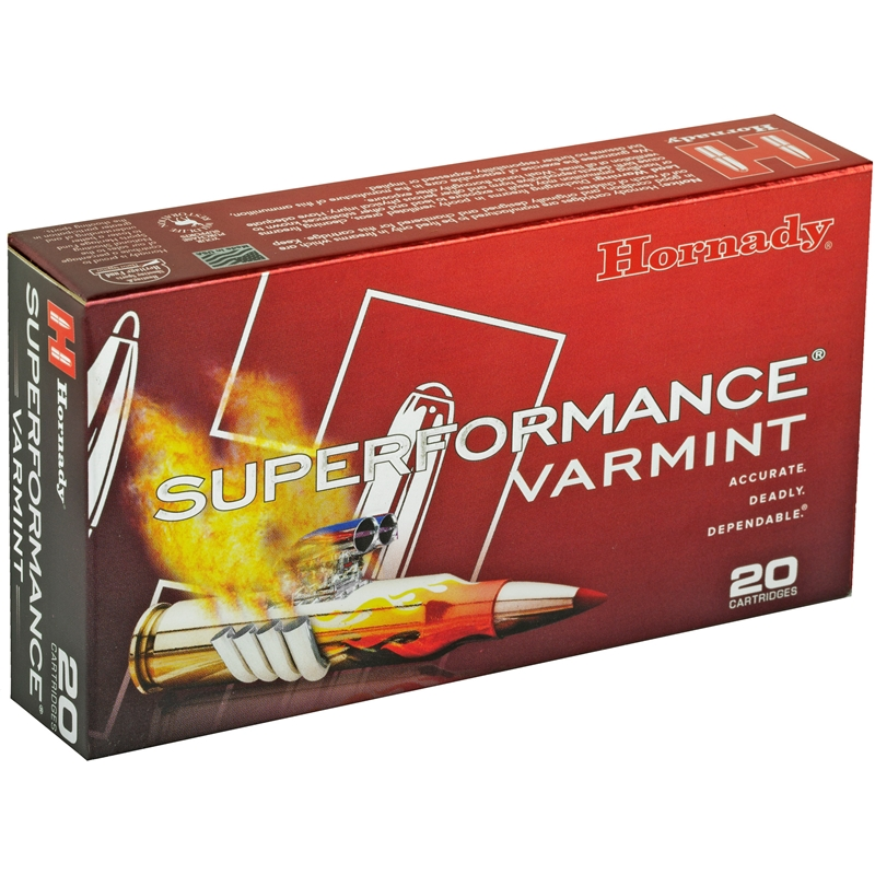 Hornady Superformance 222 Remington Ammo 50 Grain V-Max