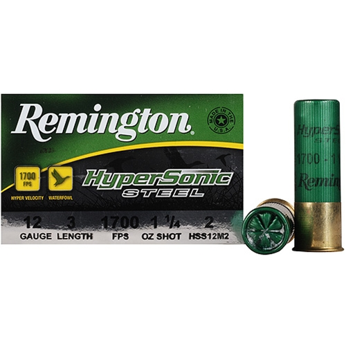 "Remington HyperSonic 12 Gauge Ammo 3"" 1-1/4 oz #2 Non-Toxic SS"