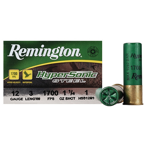"Remington HyperSonic 12 Gauge Ammo 3"" 1-1/4 oz #1 Non-Toxic SS"
