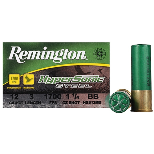 "Remington HyperSonic 12 Gauge Ammo 3"" 1-1/4oz #BB Non-Toxic SS"