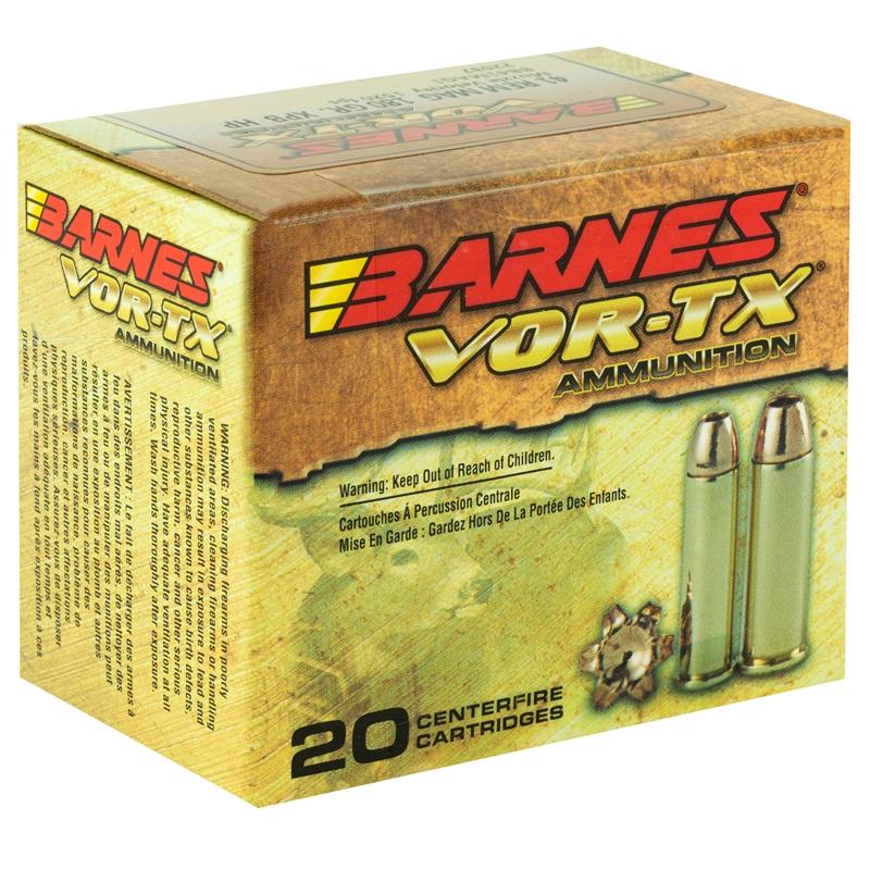 Barnes VOR-TX 41 Remington Magnum Ammo 180 Gr XPB HPLF