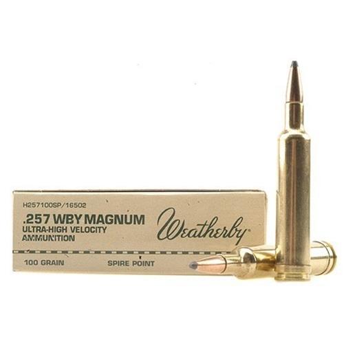 Weatherby 257 Weatherby Magnum 100 Grain Hornady InterLock Spire Point  Ammunition