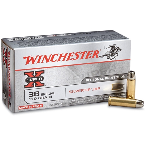 Winchester Super-X 38 Special 110 Grain Hollow Point