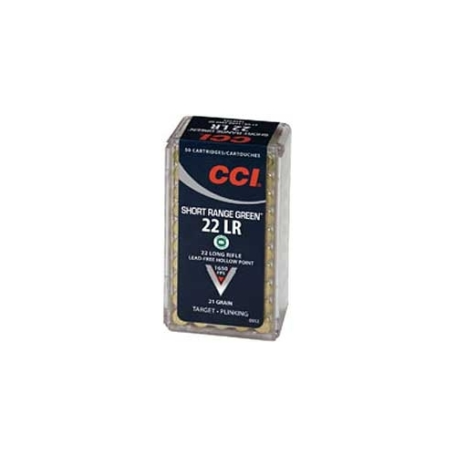 CCI Short Range Green 22 Long Rifle Ammo 21 Gr. Truncated Cone HP