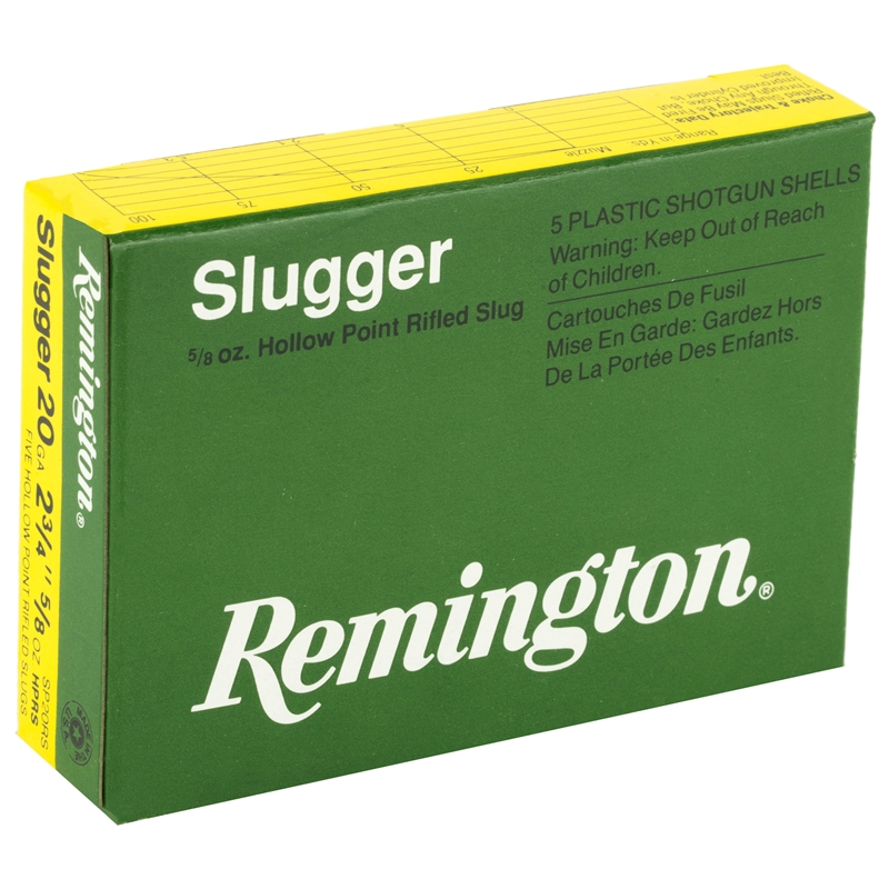 "Remington Express Slugger 20 Gauge Ammo 2-3/4"" 5/8 oz RS"