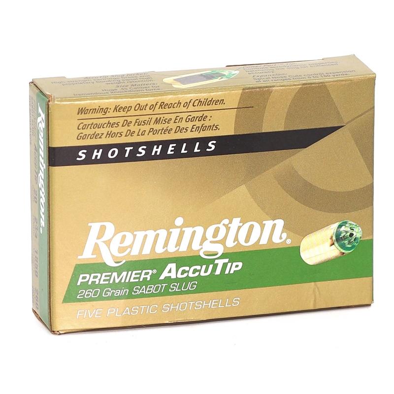 "Remington Premier 20 Gauge 2-3/4"" 260 Gr AccuTip Sabot Slug"