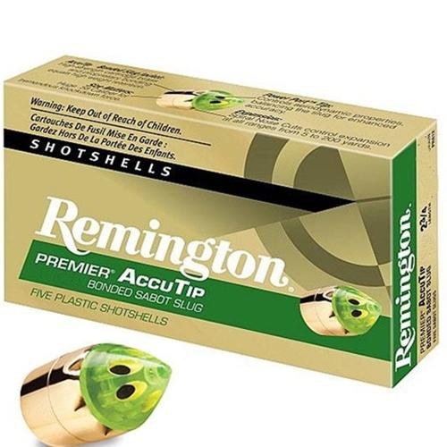 "Remington Premier 20 Gauge Ammo 3"" 260 Gr AccuTip Sabot Slug PP"