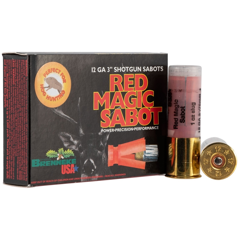 "Brenneke USA Red Magic 12 Gauge Ammo 3"" 1 oz Sabot Slug"