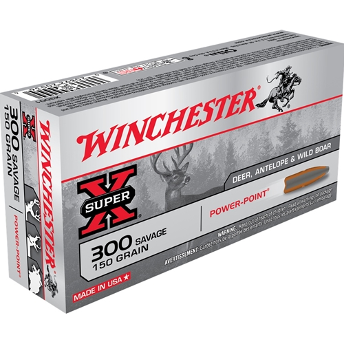 Winchester Super-X 300 Savage 150 Grain Power Point