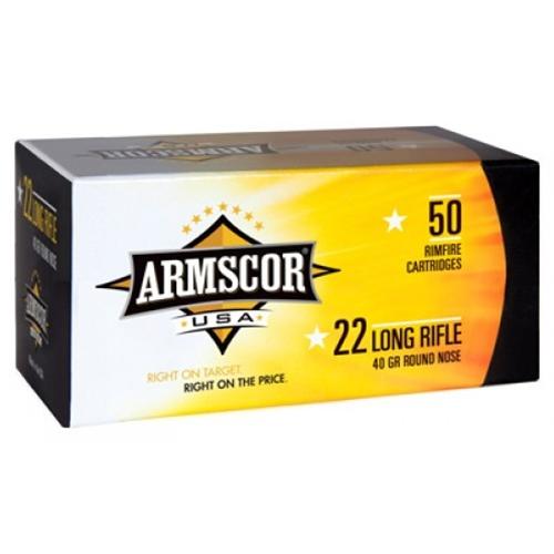 Armscor USA 22 LR Ammo 40 Grain Standard Velocity Lead Round Nose