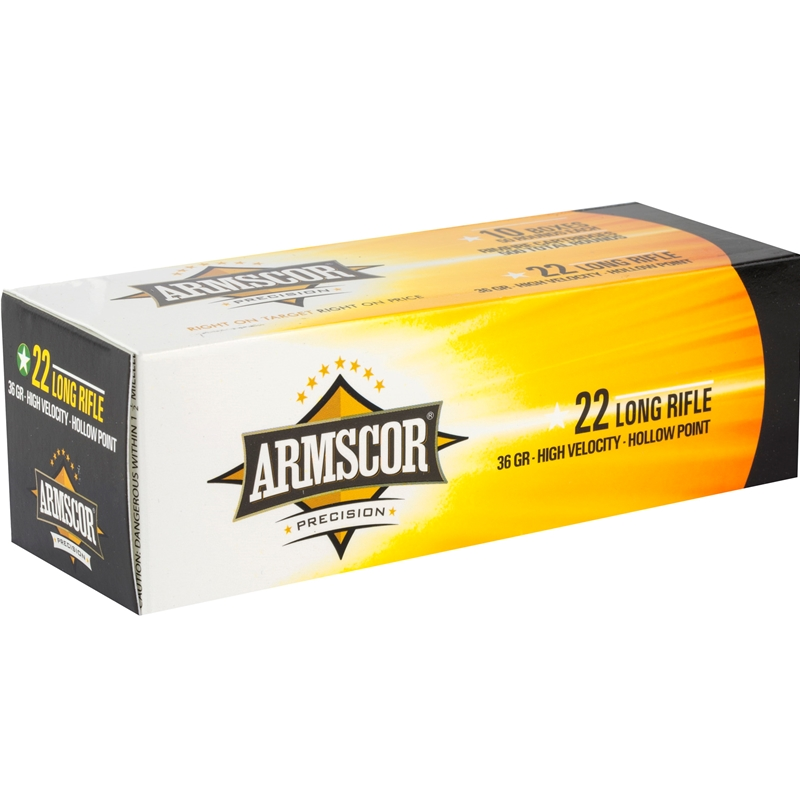 Armscor Precision 22 Long Rifle Ammo 36 Grain HVHP