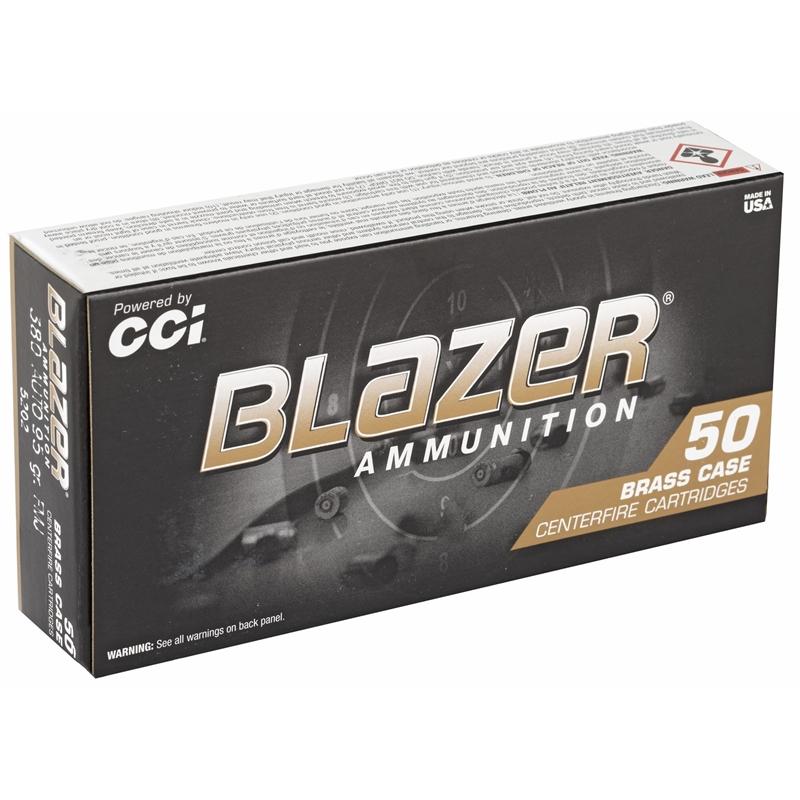 CCI Blazer Brass 380 ACP Auto Ammo 95 Grain FMJ