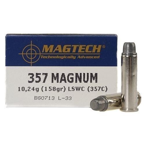 Magtech Sport 357 Magnum Ammo 158 Grain Lead Semi-Wadcutter