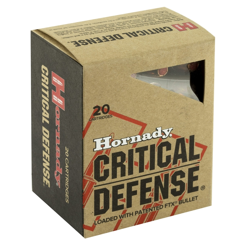 Hornady Critical Defense 45 Long Colt Ammo 185 Grain FTX