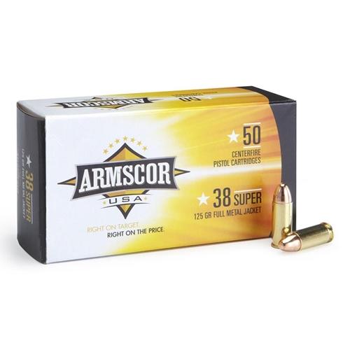 Armscor Precision 38 Super Ammo 125 Grain Full Metal Jacket