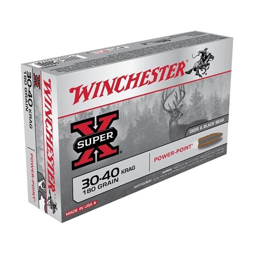 Winchester Super-X 30-40 Krag Ammo 180 Grain Power-Point