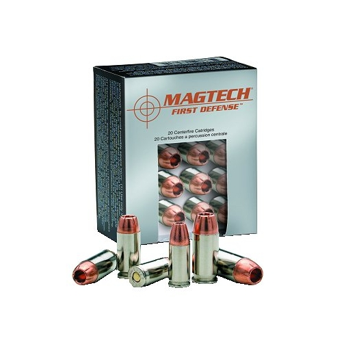 Magtech First Defense Ammo 45 ACP AUTO 165 Grain +P Solid Copper Hollow Point Lead Free Ammunition