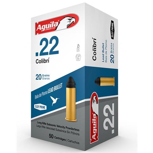 Aguila Colibri Ammo 22 Long Rifle 20 Grain Solid Point Ammunition