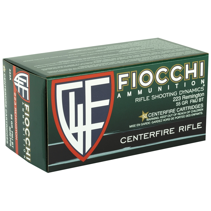 Fiocchi Shooting Dynamics 223 Remington Ammo 55 Grain FMJ