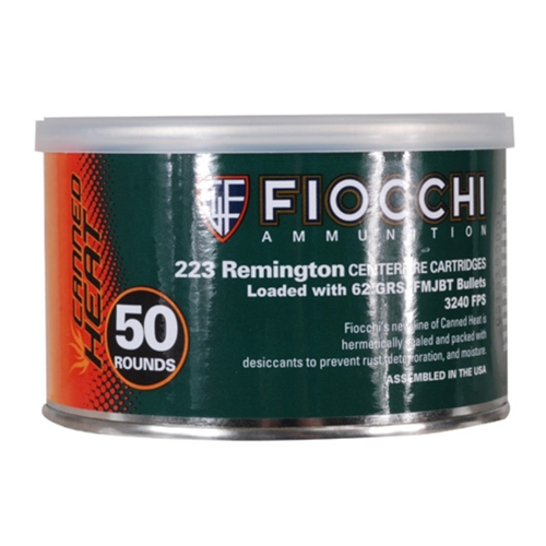 Fiocchi Shooting Dynamics Canned Heat 223 Remington Ammo 62 Grain FMJ