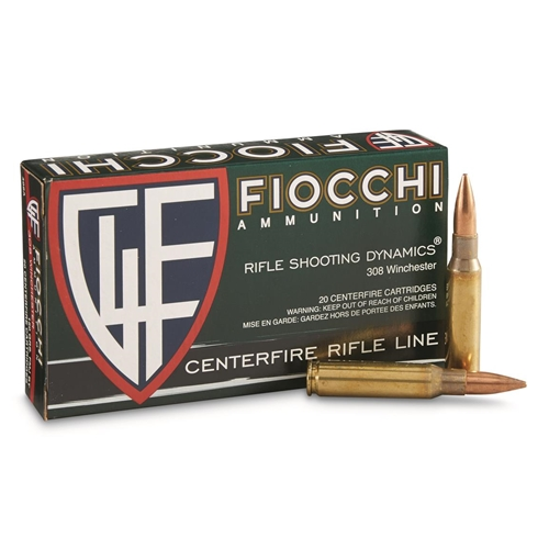 Fiocchi Shooting Dynamics 308 Winchester Ammo 150 Grain FMJ