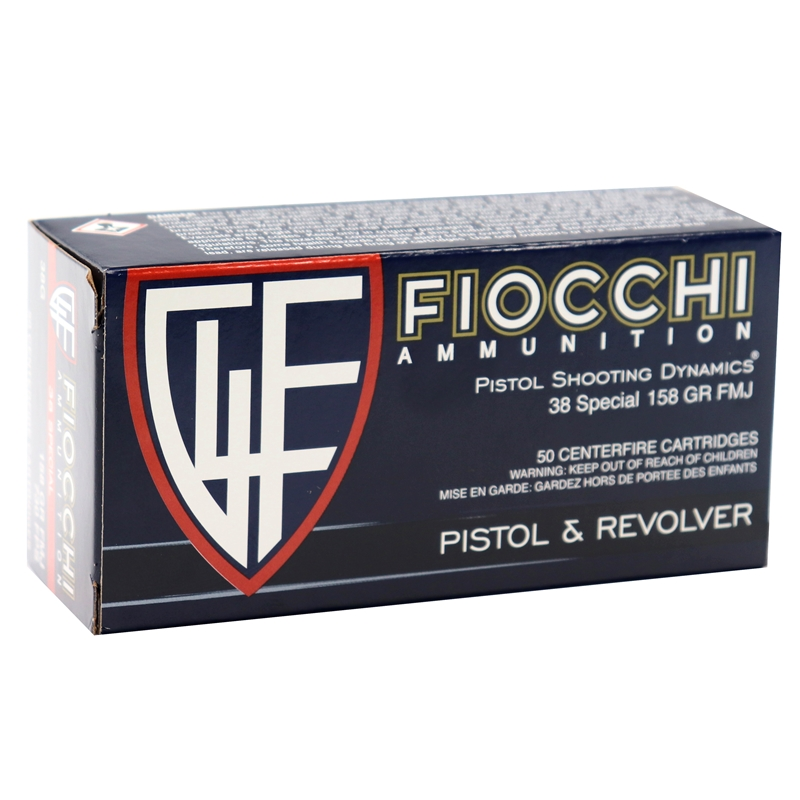 Fiocchi Shooting Dynamics 38 Special Ammo 158 Grain FMJ