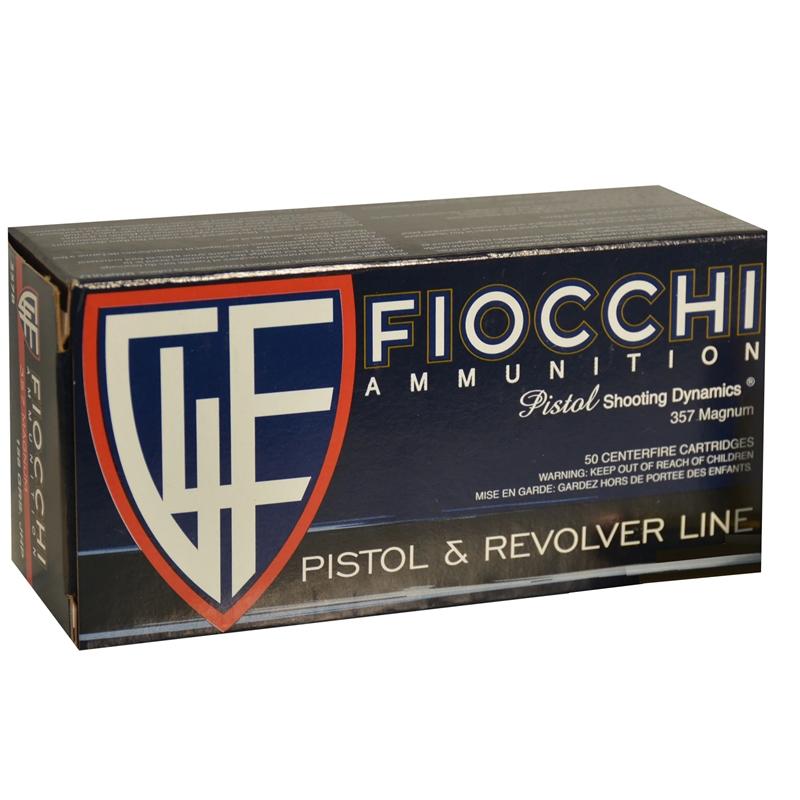 Fiocchi Shooting Dynamics 357 Magnum Ammo 158 Grain JHP