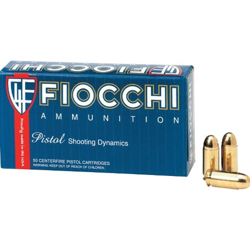 Fiocchi Shooting Dynamics 40 S&W Ammo 165 Grain Full Metal Jacket