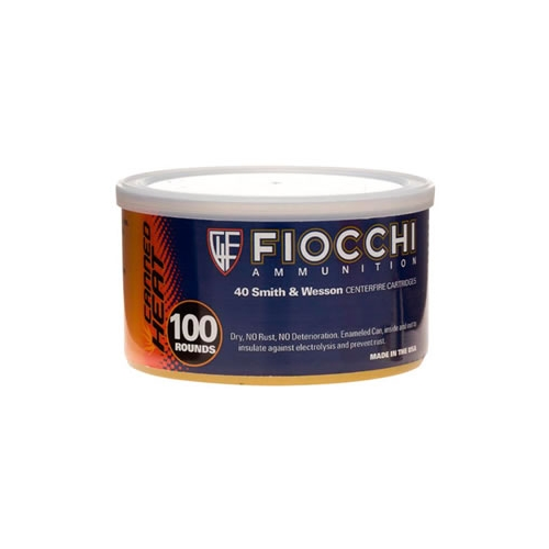 Fiocchi Shooting Dynamics Canned Heat Ammo 40 S&W 180 Grain Full Metal Jacket Ammunition
