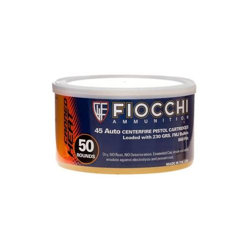 Fiocchi Shooting Dynamics Canned Heat Ammo 45 ACP AUTO 230 Grain Full Metal Jacket Ammunition