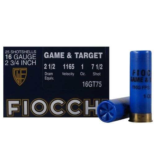 "Fiocchi Game & Target Ammo 16 Gauge 2-3/4"" 1oz. #7-1/2 Shot"