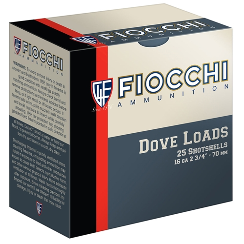 "Fiocchi Game & Target 16 Gauge 2-3/4"" 1oz. #8 Shot"
