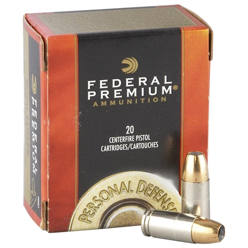 Federal Personal Defense 10mm AUTO Ammo 180 Grain Hydra-Shok JHP